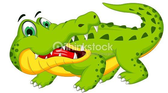 Crocodile dessin anim mignon posant clipart vectoriel thinkstock - Dessin anime les crocodiles ...