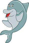 Cute dolphin cartoon - full color