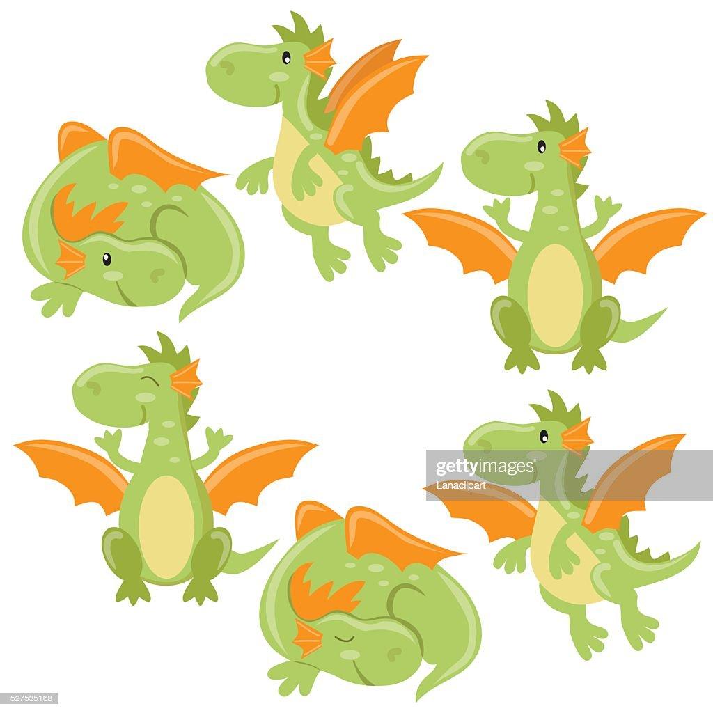 Cute Dragon Vector Illustration : Vector Art