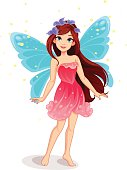 Cute and beautiful fairy standing