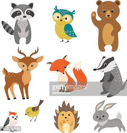 Cute forest animals : stock vector