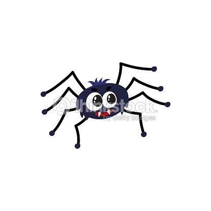 Arana Negra Lindo Divertido Tradicional Simbolo De Halloween Dibujos - Dibujos-araas-halloween