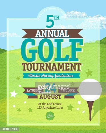 Independence Day Golf Tournament Invitation Design Template On