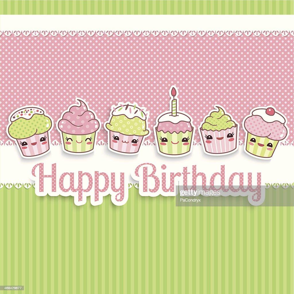 Cute Happy Birthday Card Vector Art – Happy Birthday Cards Cute