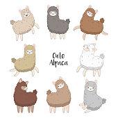 Cartoon character vector illustration. Funny smiling animals.