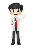Cute Male Success Doctor - full color