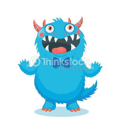 Cute Monster Vector. Cartoon Monster Mascot.