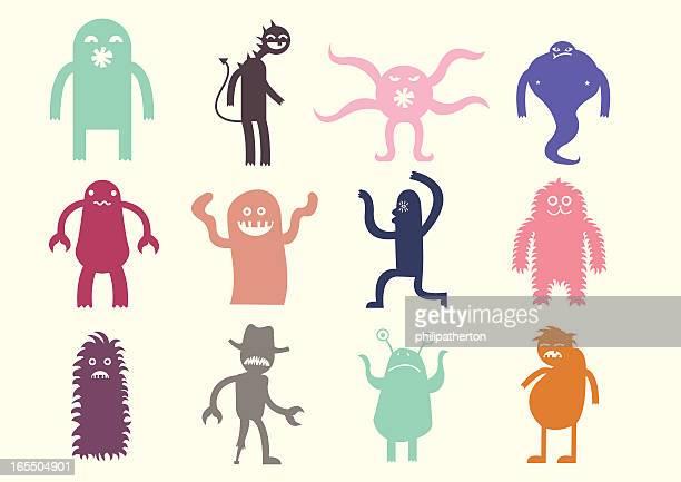 Cute monsters set 1