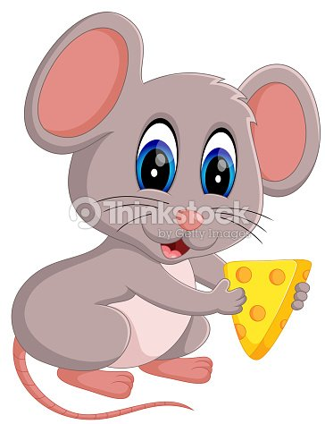 Cute Mouse Cartoon Vector Art | Thinkstock