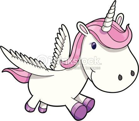 Susse Einhorn Pegasus Vektorgrafik Thinkstock