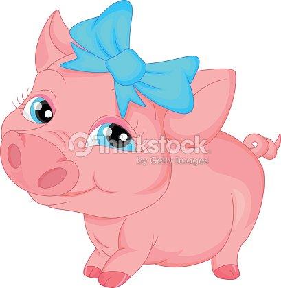 Cochon dessin anim mignon clipart vectoriel thinkstock - Dessin cochon mignon ...