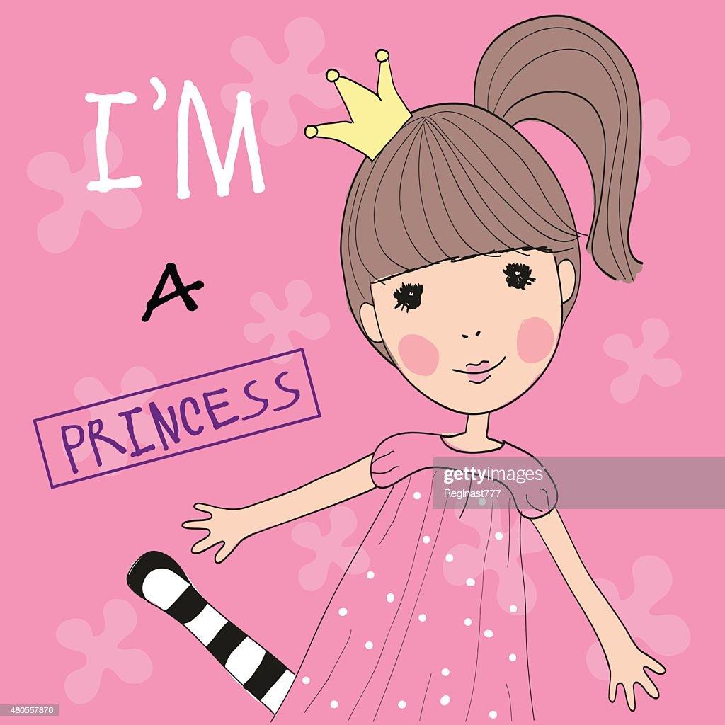 Cute Princess : Vector Art