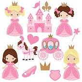 Cute princess vector illustration