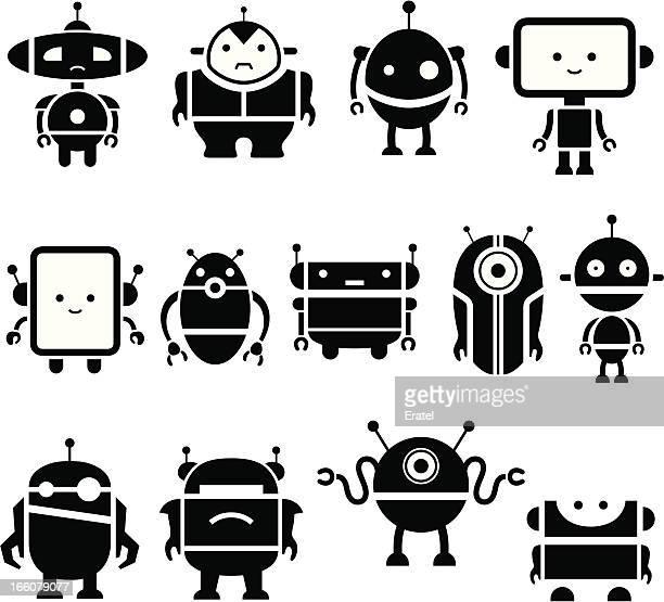Cute Robot Symbols