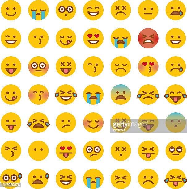 Cute Set of Simple Emojis