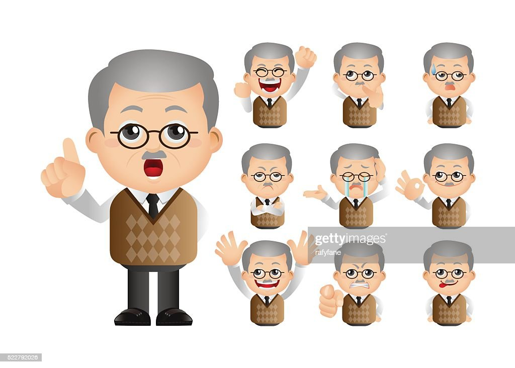 Image of: Calm Cute Set Set Of Old People Thinkstock Cute Set Set Of Old People Vector Art Thinkstock