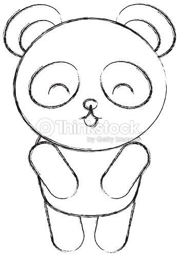 Mignon dessin dessiner panda bear clipart vectoriel - Panda a dessiner ...