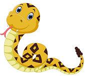 illustration of  cute snake cartoon