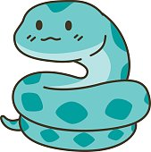 Cute snake zodiac vector cartoon
