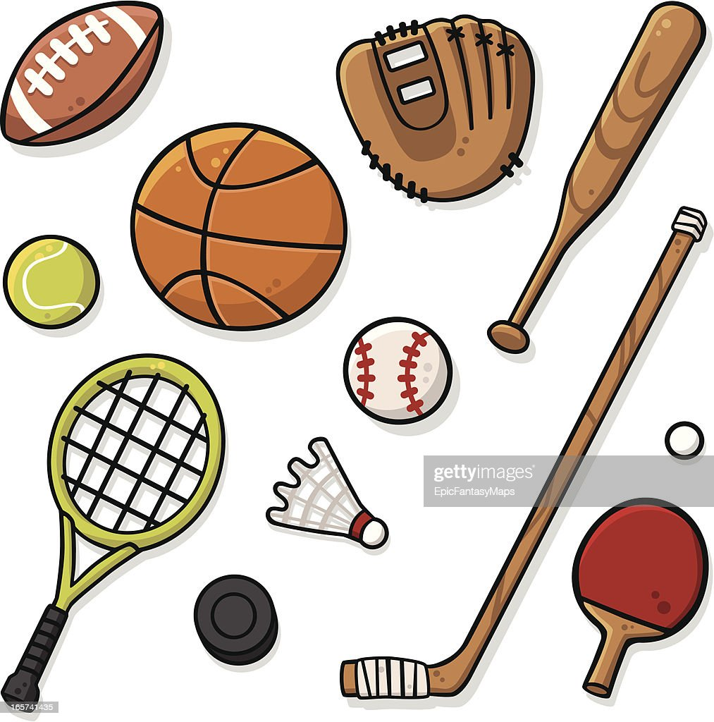 free clipart of sports equipment - photo #49