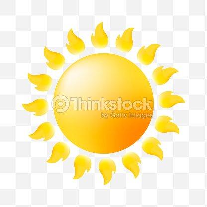 Cute Sun Icon On Transparent Background Vector Art