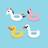 cute swim ring vector