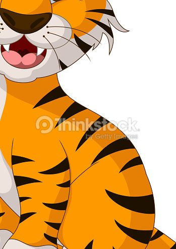 Cute Tiger Cartoon Vector Art | Thinkstock