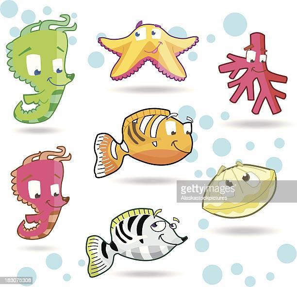 cute underwater character