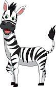vector illustration of cute zebra cartoon