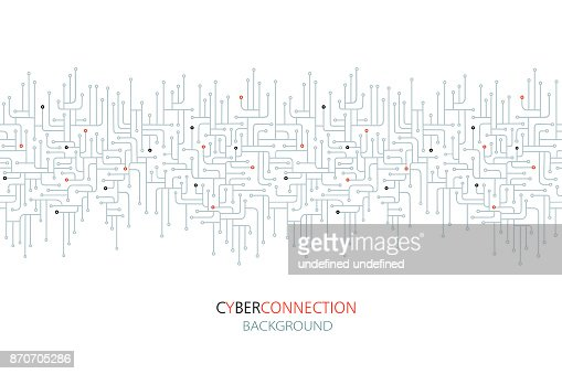 Cyber connection electronic circuit background. : stock vector