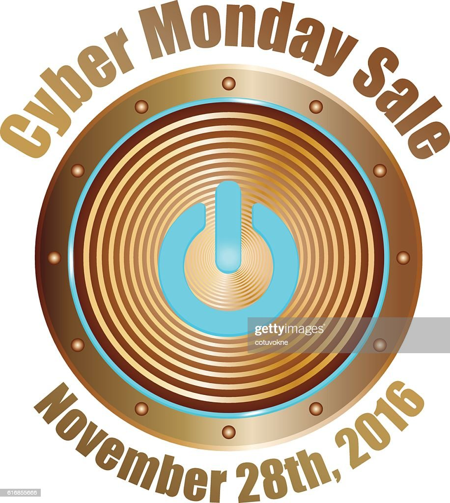 cyber monday sale copper with blue : Vector Art