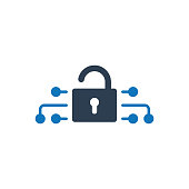 Simple Illustration Of A  Cyber security icon