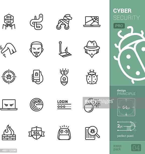 Cyber security vector icons - PRO pack