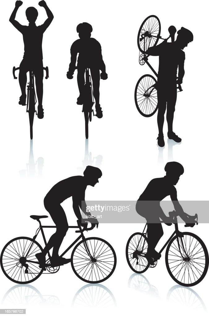 Cycling Silhouettes 2 Vector Art | Getty Images