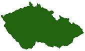 vector illustration of Czech map