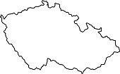 Czech Republic map of black contour curves of vector illustration