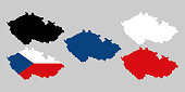 Czech republic with national flag decoration