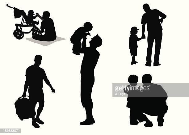 Daddies Vector Silhouette