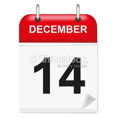Calendario Diario.Calendario Diario 14 De Diciembre Arte Vectorial Thinkstock