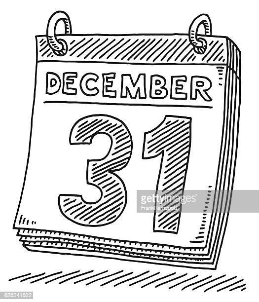 Daily Calendar December 31 Drawing