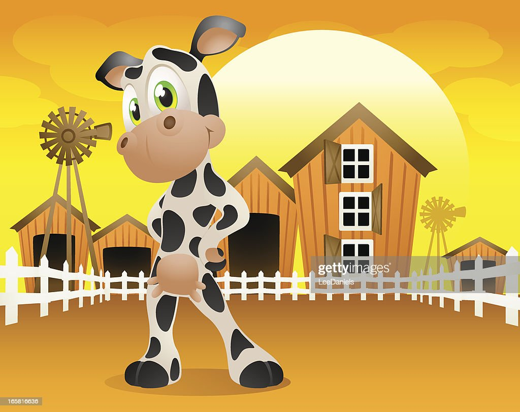 Dairy Cow on the farm! : Vector Art