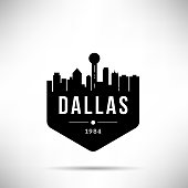 Dallas City Modern Skyline Vector Template