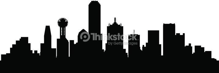 dallas texas city skyline silhouette vector art