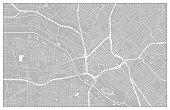 Dallas Vector City Street Map