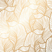 Damask floral pattern. Royal wallpaper. Vector illustration. EPS 10. Gold leaf background