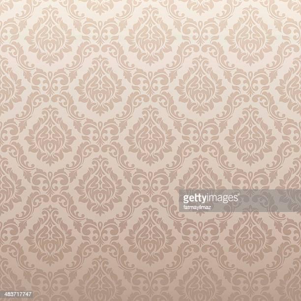 Papier peint damassé motif