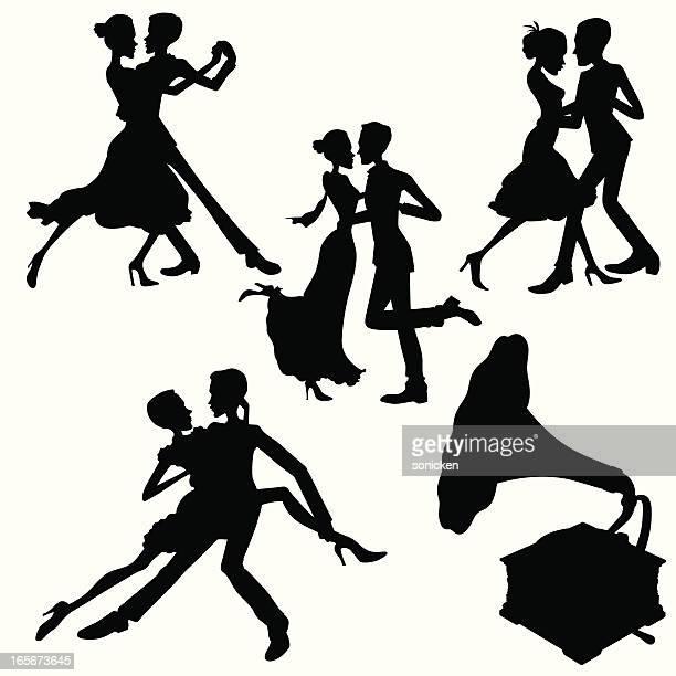 Illustrations et dessins anim s de danse de salon getty for Danse de salon 95