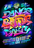 Dance battle party poster design concept