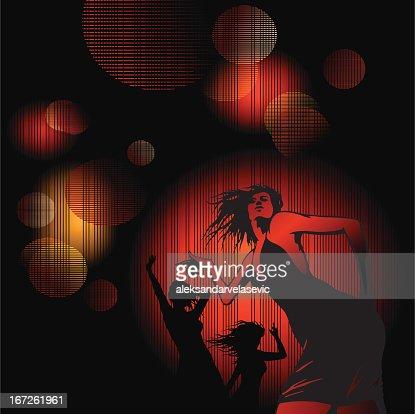 Dancing girls : Vector Art