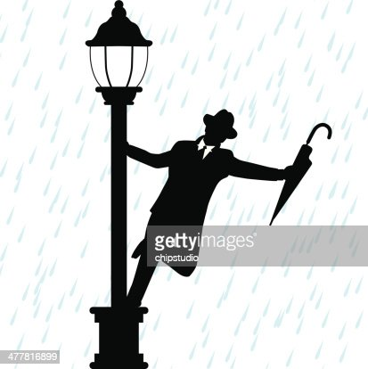 dancing in the rain vector art getty images. Black Bedroom Furniture Sets. Home Design Ideas